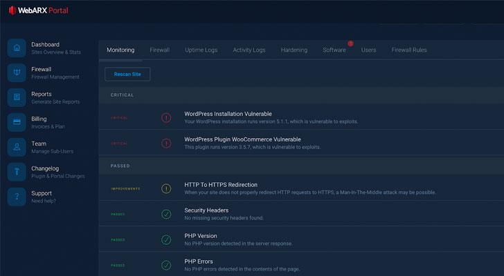 WebARX web application security