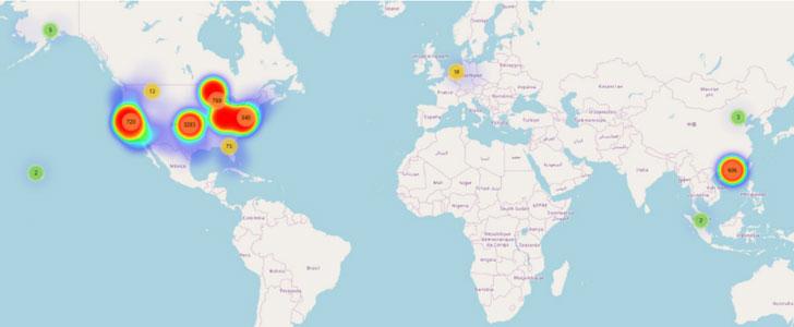 cyberattack map