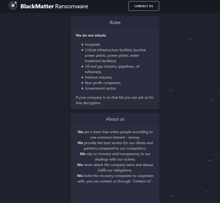 BlackMatter Ransomware